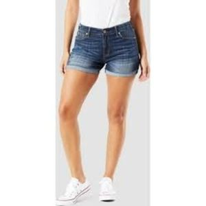 Levi's Denizen medium wash cuffed modern shorts